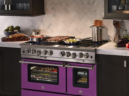 A purple stove? Cook up some color for a kitchen that pops