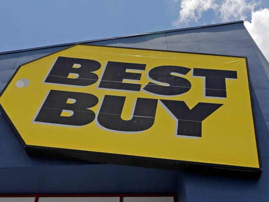 A Best Buy sign at a store in Hialeah, Fla. Best Buy