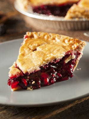 A slice of berry pie.