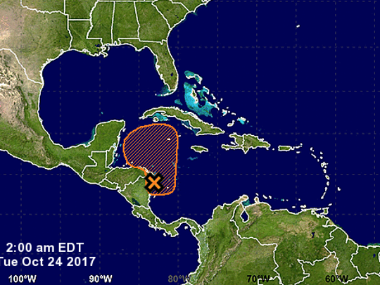 National Hurricane Center watching weather in western Caribbean Sea