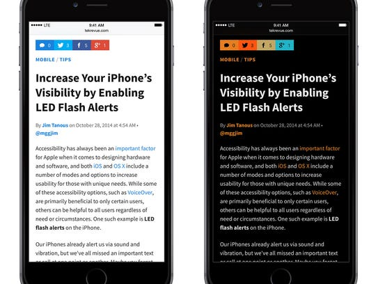 Inverting the text on your smartphone – by reading