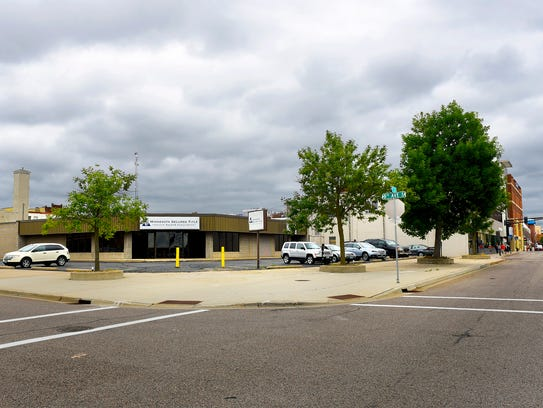 The proposed site of a new three-story office building