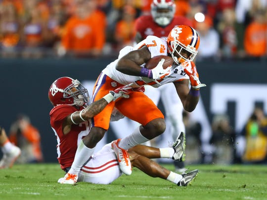 Mike Williams caught 98 passes for 1,361 yards and 11 TDs last year for Clemson.
