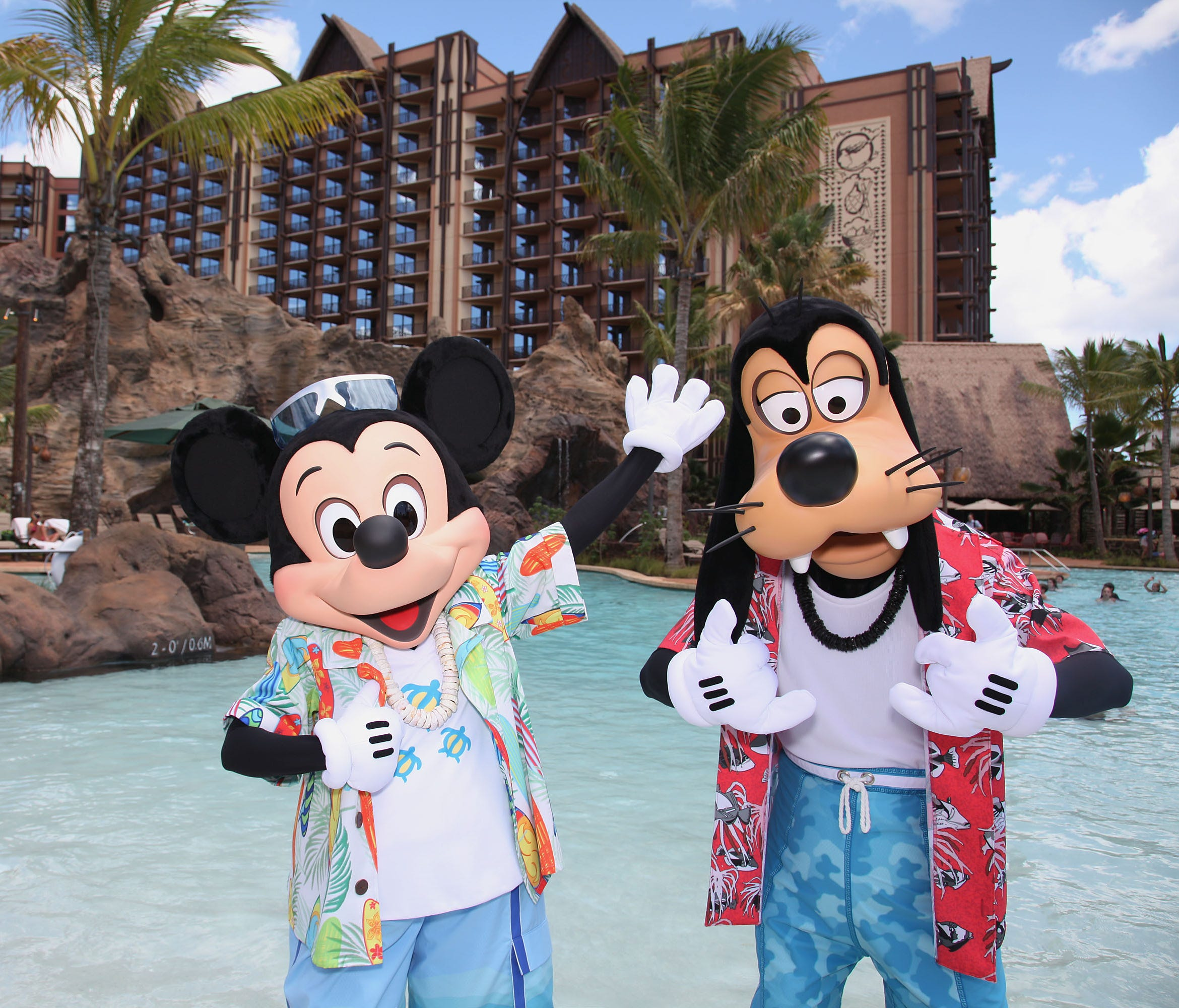 MICKEY MOUSE AND GOOFY VACATION AT AULANI -- With its fun recreation features and restaurants, its comfortable rooms, and its combination of Disney magic with Hawaiian beauty, tradition and relaxation, Aulani, a Disney Resort & Spa in HawaiÔi, offers