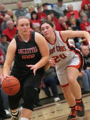 Buckeye Central's Courtney Pifher dribbles the ball