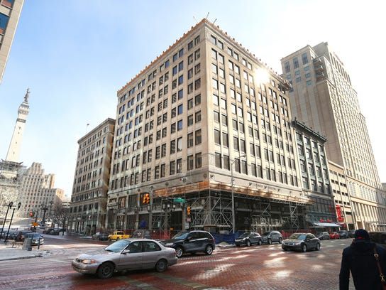A rooftop bar is in the works at the 10-story Illinois Building in Downtown Indianapolis.