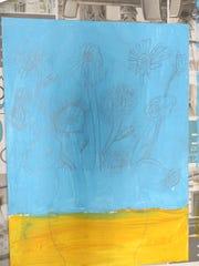 Jaelynn Mackoski's sketch of her sunflowers.