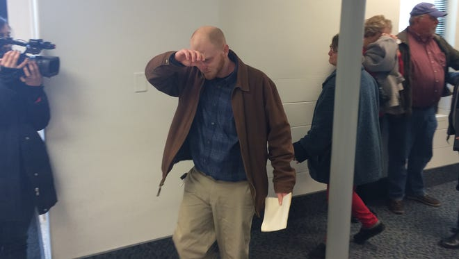 Bobby Lee Morris, 33, leaves court Tuesday after being found not guilty on 12 felony charges.