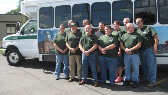 Many of the drivers with Schuyler County Transit gathered on Aug. 26 to attend the celebration of the bus system's fifth anniversary.