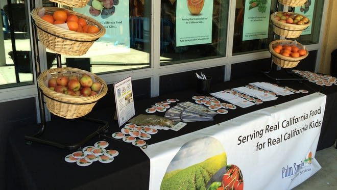 Students at a Palm Springs area school recently were served locally grown and farm-fresh foods.