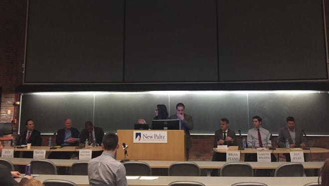 SUNY New Paltz on Wednesday hosted a forum for Democrats hoping to win the nomination to challenge Republican Rep. John Faso, R-Kinderhook.
