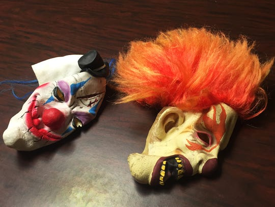 Portland police confiscated these masks from two individuals