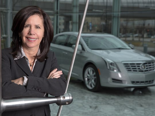 GM VP Global Purchasing and Supply Chain Grace Lieblein in February 2013 at GM Global Headquarters in Detroit.
