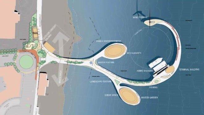 An 2010 rendering of a new Long Branch pier.