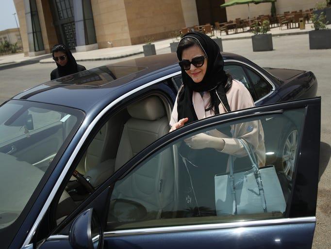 Saudi lawyer and businesswoman Sofana Dahlan gets in
