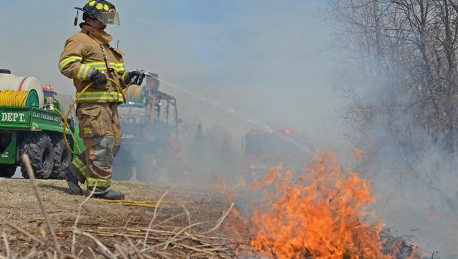 he Michigan Department of Natural Resources is doing a prescribed burn in Tuscola County.