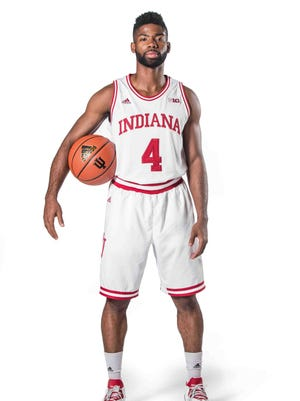 PHOTOS EMBARGOED UNTIL SEPT 30TH Robert Johnson is photographed during Indiana University's Mens Basketball Media Day at IU's Cook Hall, Wednesday September 7th, 2016.
