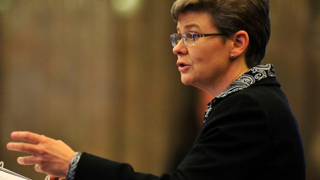 Deputy Attorney General Jennifer Smith argued against releasing the names of executioners in 2014.