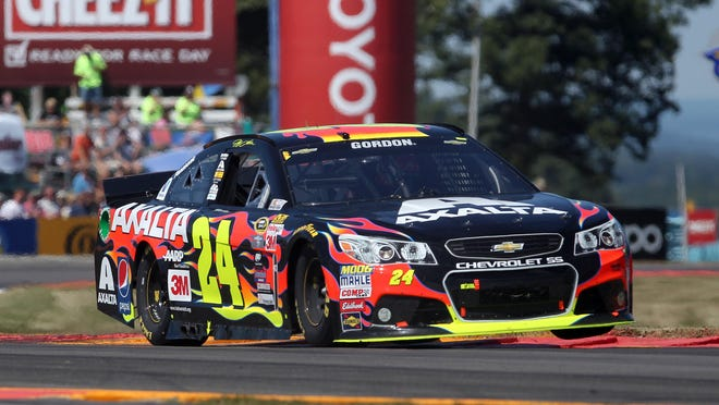 Jeff Gordon drives during the Cheez-It 355 at The Glen on Sunday