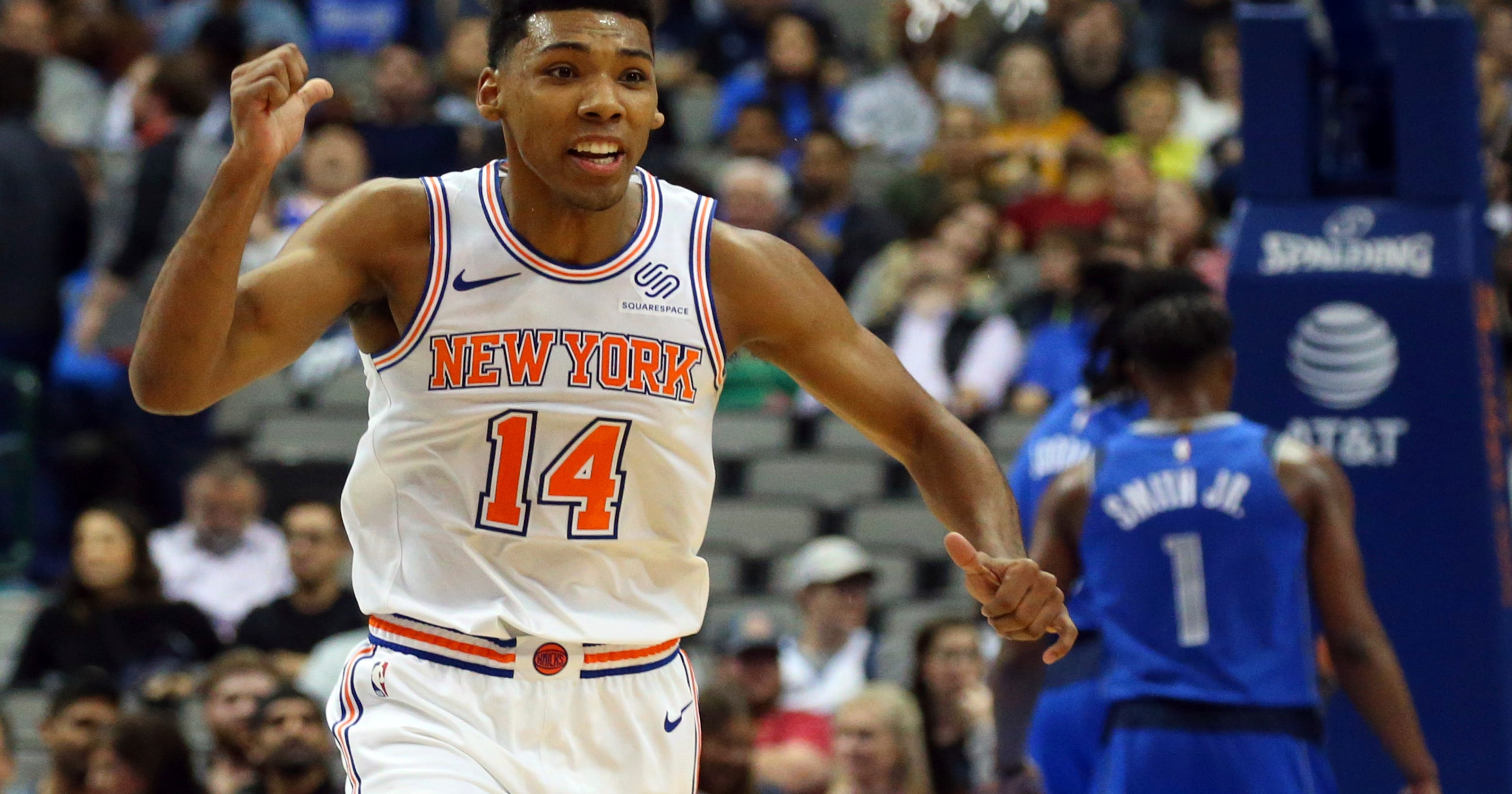 online retailer 65ac2 18004 New York Knicks: Allonzo Trier steps for development with ...