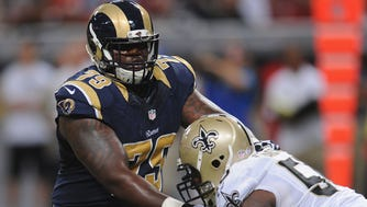 T Greg Robinson spent three disappointing seasons with the Rams before being traded to Detroit.
