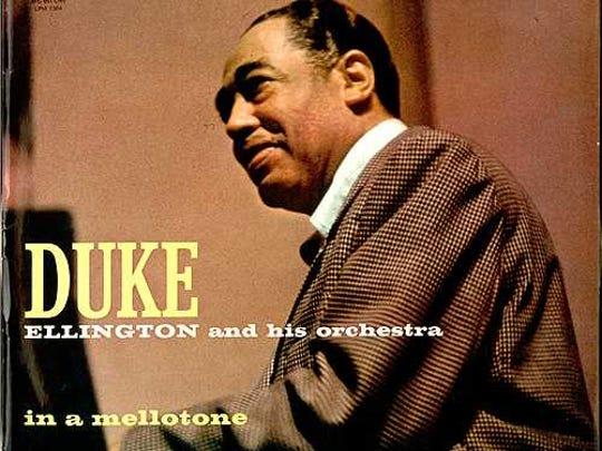"Singer designed this album cover for Duke Ellington's ""In a Mellowtone."""