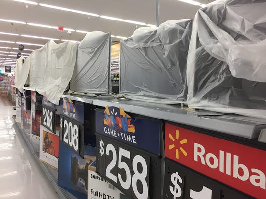 Walmart in Titusville preps electronics for the impending