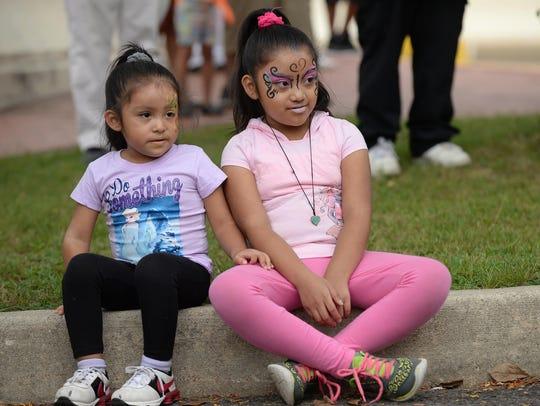Sisters Camila, 4, and Alexandra Zaragoza, 8, of Bridgeton,