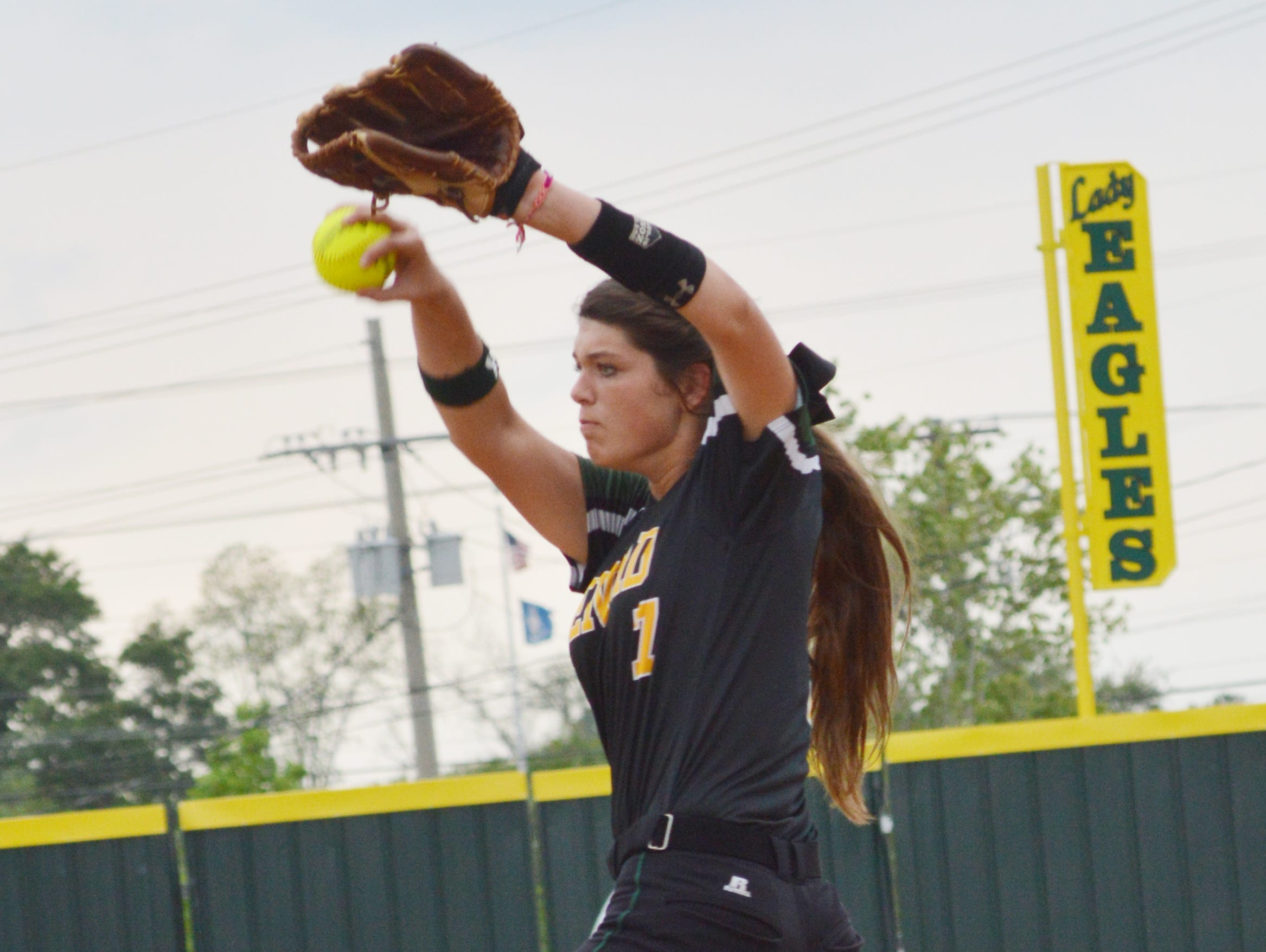 Menard's Kayla Busby (7) will be one of five Central Louisiana players competing in the LHSCA Softball All-Star Games at Louisiana College Friday and Saturday.