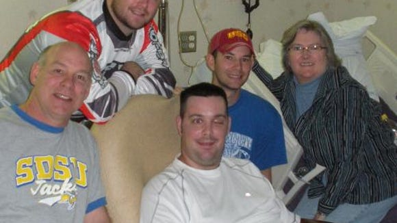 Eric Rippentrop spent two months in the hospital following his accident, with family members offering support.