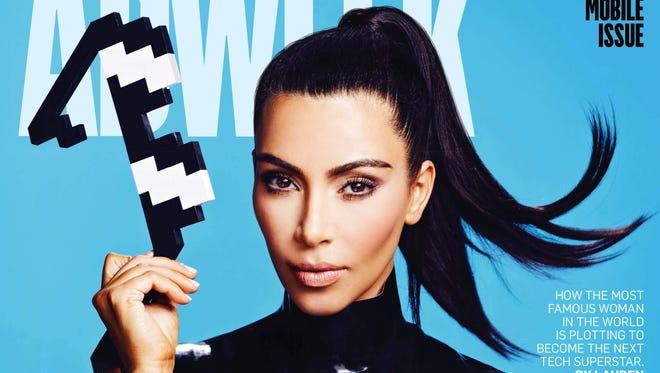 "Kim Kardashian covers ""AdWeek."""
