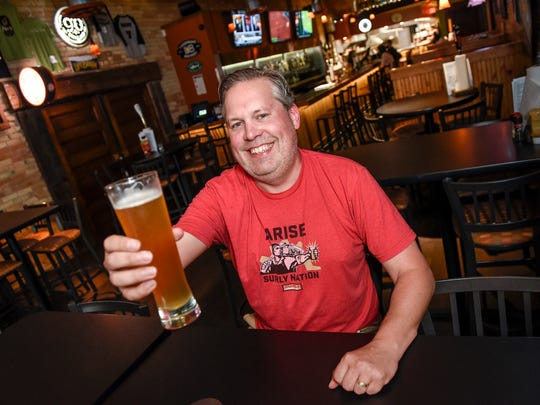 "Stu Neuman talks about his job as the lead copywriter or ""Manager of Words"" for Surly Brewing Co. shown February of 2017 in St. Cloud."