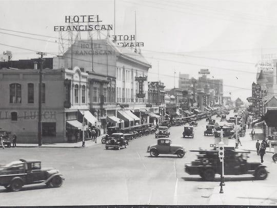 A Salinas street scene in 1929.