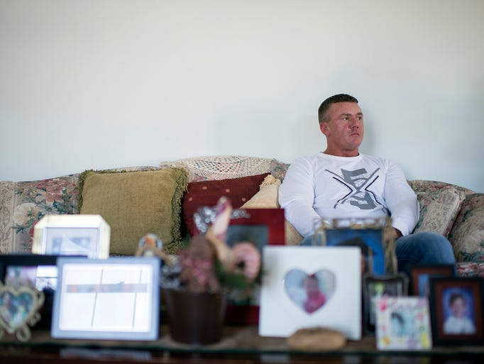 Chris Cisco in his home Thursday, Jan. 25, 2018 in