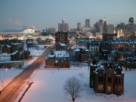 This view of Brush Park, a neighborhood in Midtown,