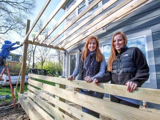 The mother-daughter boutique home building team of Mina Starsiak and Karen Jensen, oversee one of their current home projects.