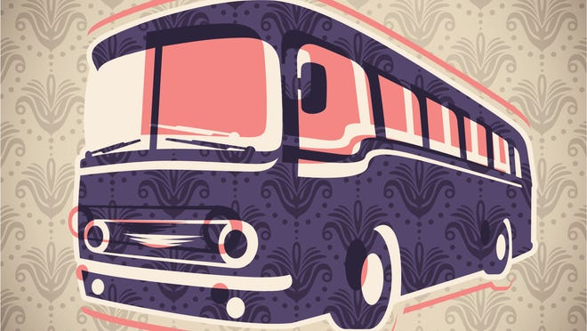 Vintage bus illustration.
