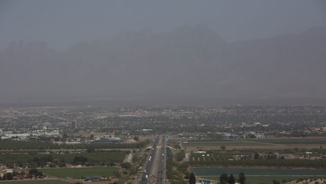 The National Weather Service issued aRed Flag Warning for Las Cruces on Tuesday, due to high winds and low moisture combining to create conditions ideal for a fire. Wind speeds were expected to top 35 miles per hour in Las Cruces and blew dust across the valley, as this view from the rest stop off of Interstate 10 shows. The winds are expected to die down a bit on Wednesday and Thursday, but should pick back up on Friday before settling again for the weekend.