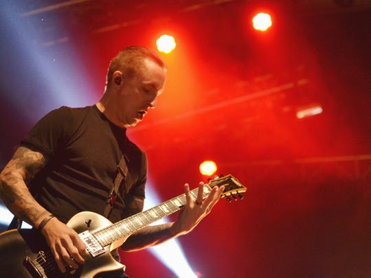Ryan Key performs with Yellowcard on Oct. 25 at Hard