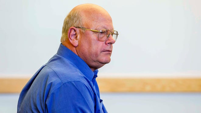 Rep. Norm McAllister, R-Franklin, appears in Vermont Superior Court in St. Albans Friday morning for his arraignment of multiple sexual assault and prohibited acts charges.