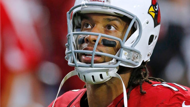 Arizona Cardinals wide receiver Larry Fitzgerald (11) against the Detroit Lions in their NFL game Sunday, Nov. 16, 2014 in Glendale, Ariz.