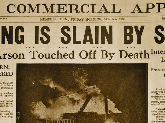 The Memphis Commercial Appeal's coverage of the assassination of Dr. Martin Luther King JR.