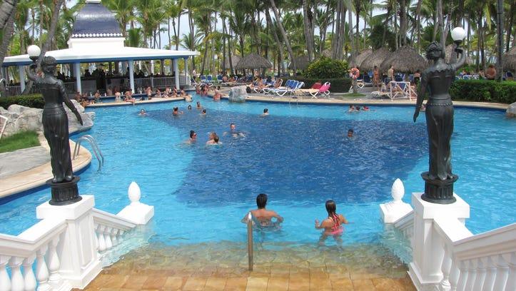 One of two fresh-water pools at Riu Bambu.