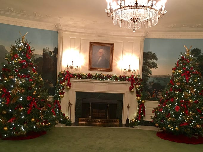 The Diplomat Room, where the first family gets their