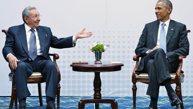 President Obama and Cuba President Raul Castro.