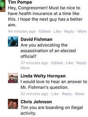 A screenshot of a conversation thread on Sen. Jeff
