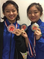 Dayamaya Calma, left, took a bronze medal in the youth