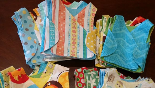 Music City Modern Quilt Guild and sewers from around the country created smocks for NICU babies at Vanderbilt and other local hospitals.