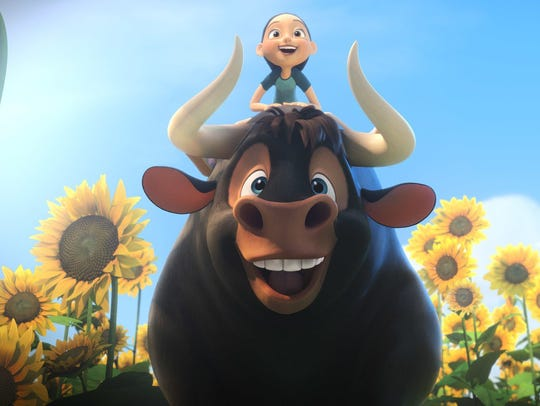 """The title character in """"Ferdinand"""" is a bull who loves"""