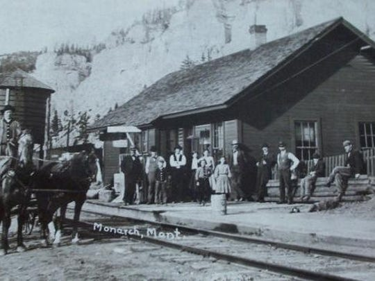 Historic photo of the Great Northern Railway Depot in Monarch. The Monarch Niehart Historical group hopes to restore the depot to its former glory.